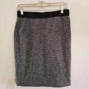 Ann Taylor Pencil Tweed Skirt